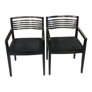 1990's Knoll Studio Arm Chairs - a Pair