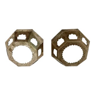 Moroccan Brass Flush Mount Fixtures - a Pair For Sale