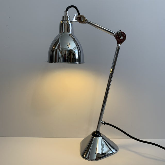Lampe Gras Lampe Gras 205 Table Lamp Chrome by DCW Editions Paris For Sale - Image 4 of 7