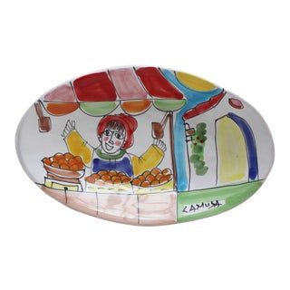 Italian Hand-Painted Pottery Dish