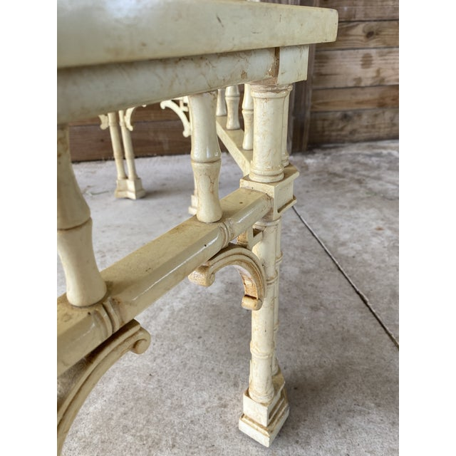 Henredon Vintage Faux Bamboo Fretwork Coffee Table For Sale - Image 4 of 13