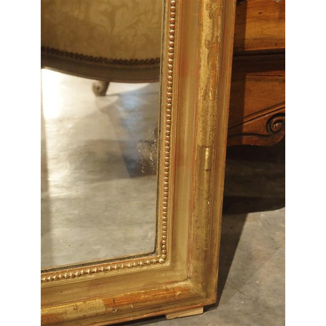 Late 19th Century 19th Century French Louis Philippe Giltwood Mirror For Sale - Image 5 of 11