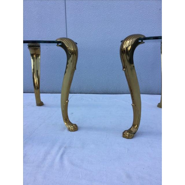 1970's Modern Tripod Brass Side Tables - 2 - Image 8 of 11