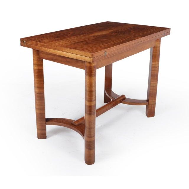1930s Art Deco Walnut Folding Tea Table For Sale - Image 12 of 12