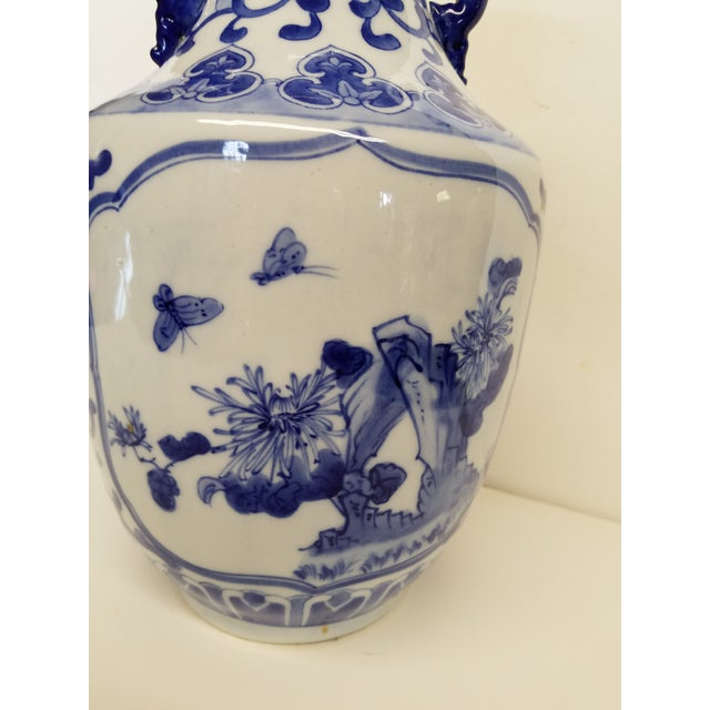 Chinese Blue and White Vase For Sale - Image 4 of 5