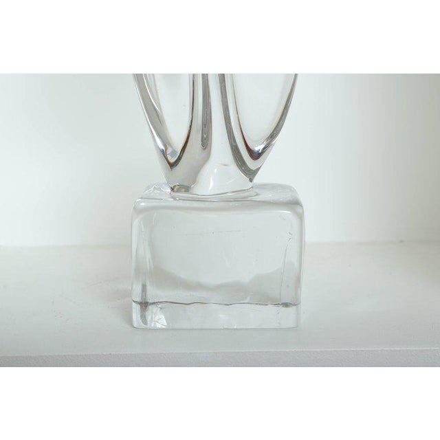 Glass Mid Century Modern Large Abstract Sculpture in Murano Glass For Sale - Image 7 of 10