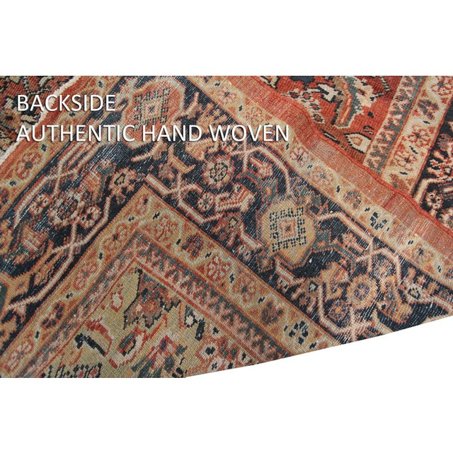Early 20th Century Antique Persian Mahal Rug-8′9″ × 10′5″ For Sale - Image 10 of 11
