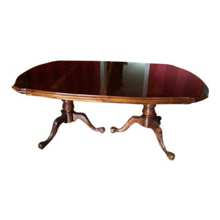 1970s Traditional Bernhardt Mahogany Dining Table For Sale