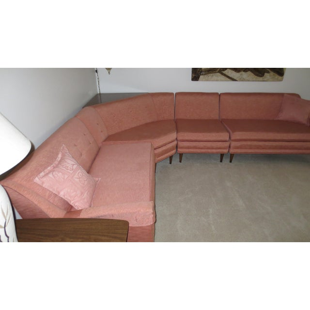 Mid 1960s 4-Piece Sectional with Corner Table - Set of 5 - Image 4 of 5