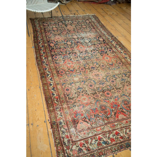 "Antique Hamadan Rug Runner - 4' X 8'10"" - Image 10 of 10"