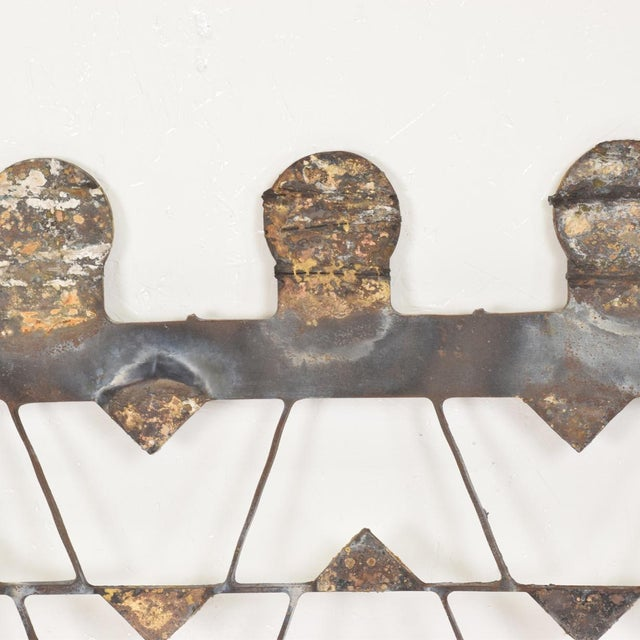Brass Mexican Modernist Metal Art Room Divider Screen For Sale - Image 7 of 9