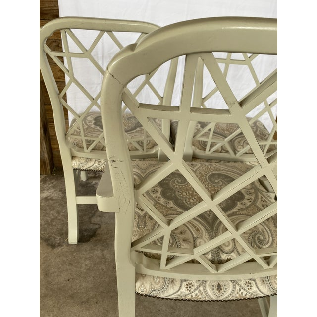 Clive Daniel Fretwork Chairs - Set of 3 For Sale - Image 4 of 13