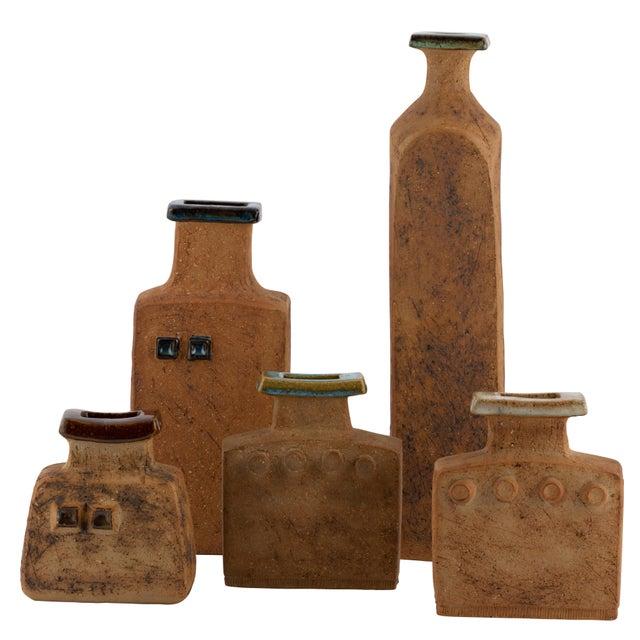 Curt Magnus Addin Stoneware Vase With Cream-Glaze Top, Circa 1970s For Sale - Image 10 of 11