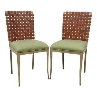 Harden Leather & Iron Chairs - a Pair For Sale
