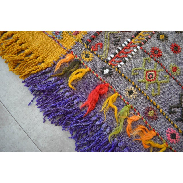 Antique Hand-Woven Turkish Rug Rare Fantastic Piece- 7′ X 11′2″ For Sale - Image 9 of 11