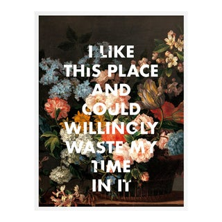 I Like This Place by Lara Fowler in White Framed Paper, Small Art Print For Sale