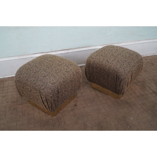 Karl Springer-Style Soufflé Ottomans - A Pair - Image 2 of 10