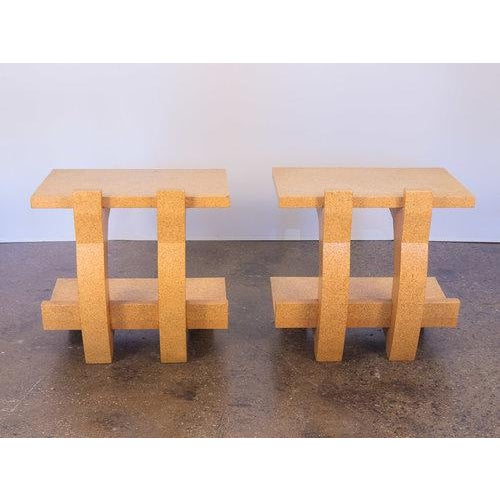 Kevin Walz Cork Side Tables - a pair For Sale - Image 4 of 11