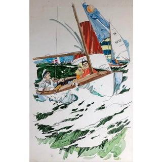 Hal Ashmead Sailing Illustration - 1970s For Sale