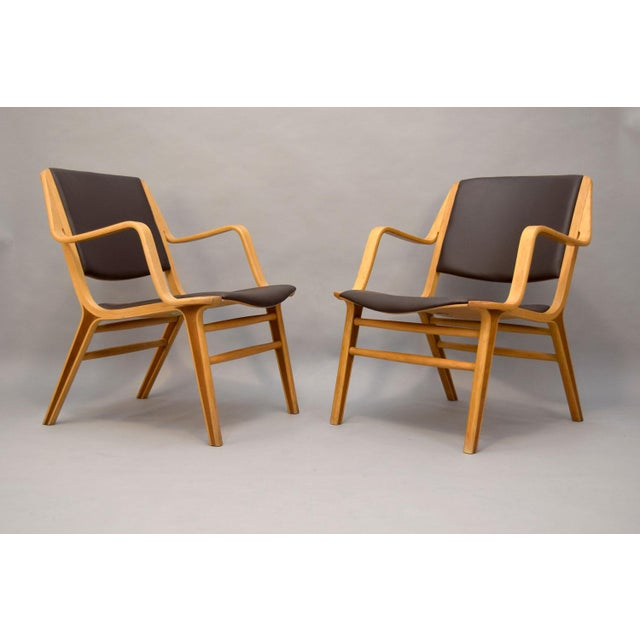 "Danish Modern Peter Hvidt & Orla Mølgaard-Nielsen Leather ""AX"" Chairs - A Pair For Sale - Image 3 of 11"