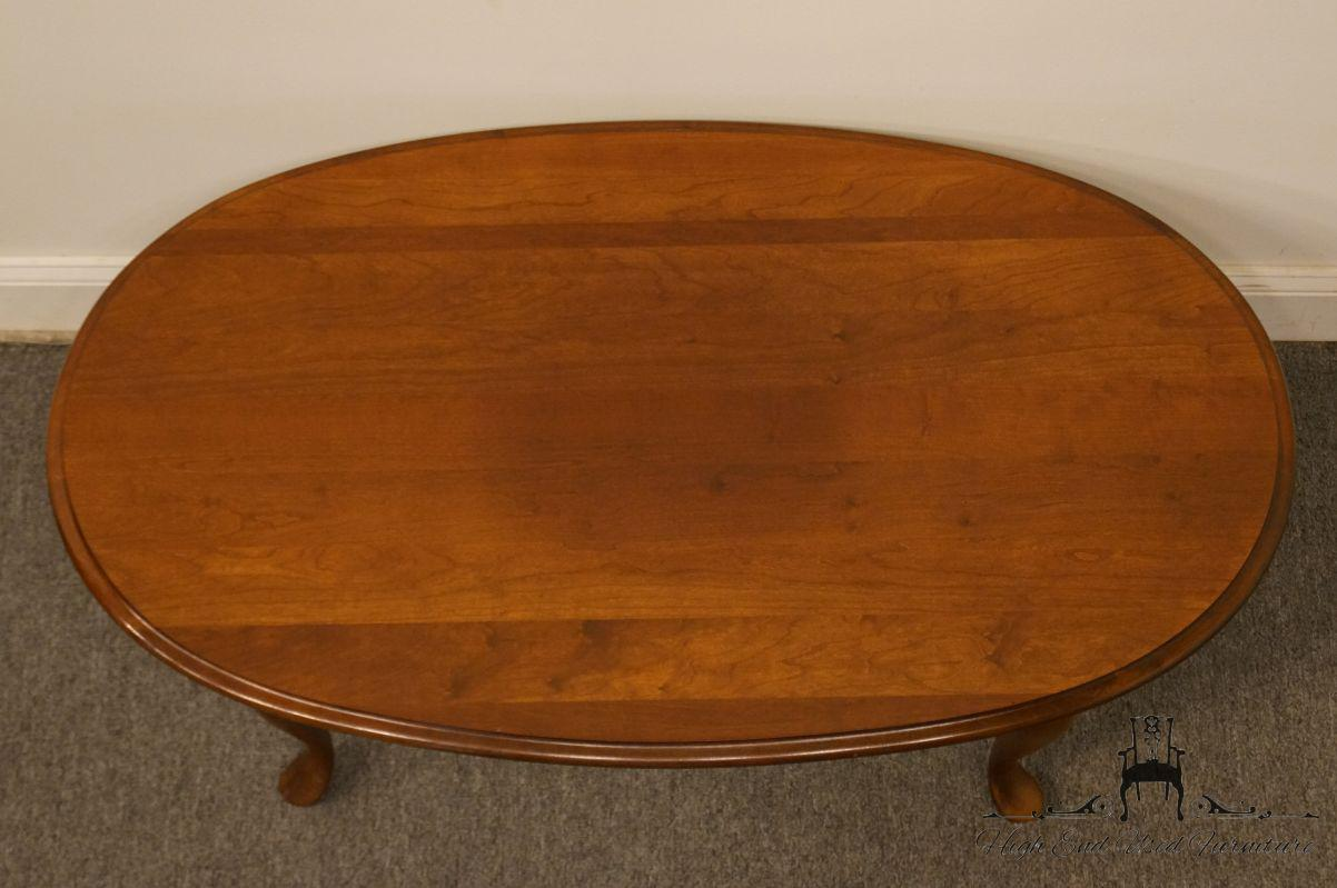 Cherry Wood Late 20th Century Vintage Broyhill Lenoir House Solid Cherry  Coffee Table For Sale