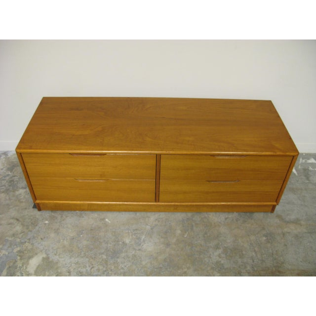 1970s Danish Teak Media Cabinet For Sale - Image 9 of 13