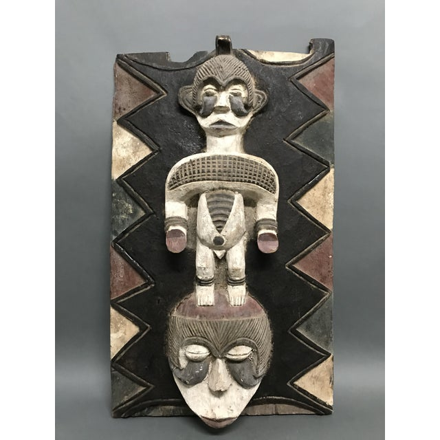 Blue African Art Tribal Art Ibo Door For Sale - Image 8 of 8