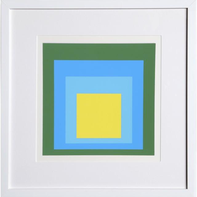 Josef Albers Josef Albers - Portfolio 1, Folder 5, Image 2 Framed Silkscreen For Sale - Image 4 of 4