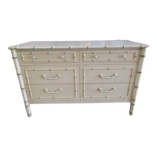 Chippendale Palm Beach Faux Bamboo Double Dresser For Sale
