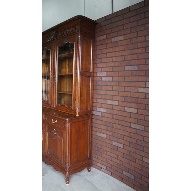 French Provincial Display Cabinet Hutch For Sale - Image 6 of 11