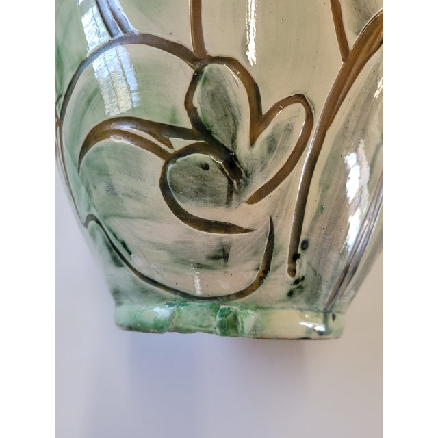 Ceramic 1940s Large Studio Pottery Vase by Zoltan Kiss for Knabstrup For Sale - Image 7 of 8