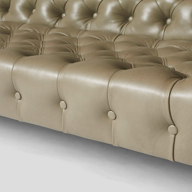 Milo Baughman Modern Chesterfield Sofa For Sale In San Francisco - Image 6 of 8