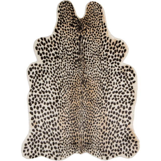 """Plastic Erin Gates by Momeni Acadia Cheetah Multi Faux Hide Area Rug - 5'3"""" X 7'10"""" For Sale - Image 7 of 8"""