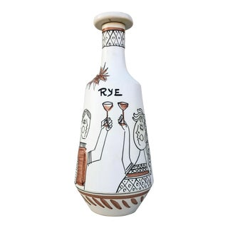 Alvino Bagni Raymor Rye Decanter For Sale