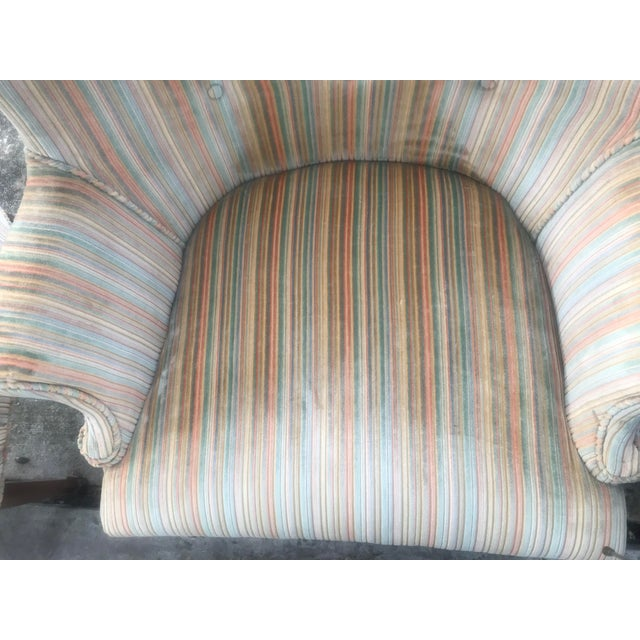 Mid-Century Modern Rainbow Velveteen Wingback Chairs - a Pair For Sale - Image 12 of 13