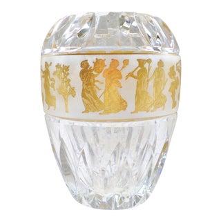 1960s Val St Lambert Crystal Vase Armada Jupiter Danse De Flore For Sale