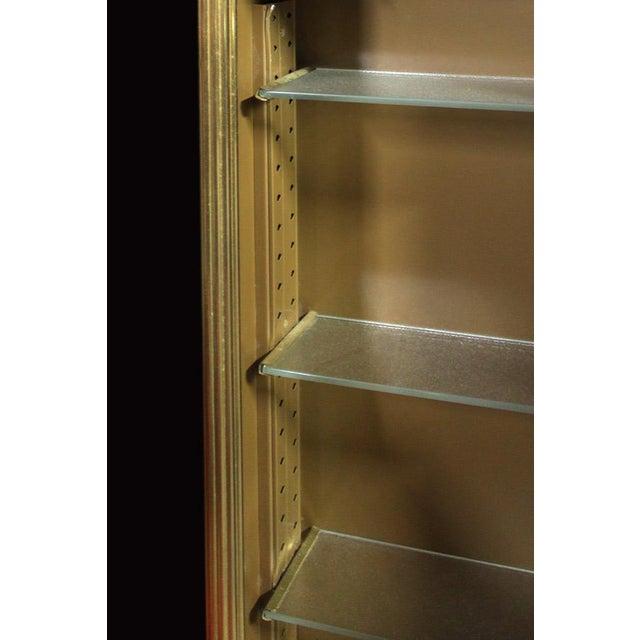 Vintage Mid Century Dore Gilt Bronze Medicine Cabinet For Sale - Image 4 of 6