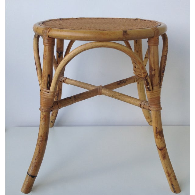 English Bamboo Round Occasional Table - Image 2 of 11