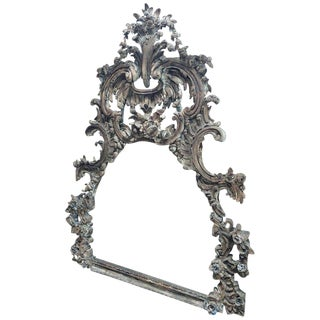 Large and Impressive Antique Italian Carved Frame in the Baroque Style For Sale
