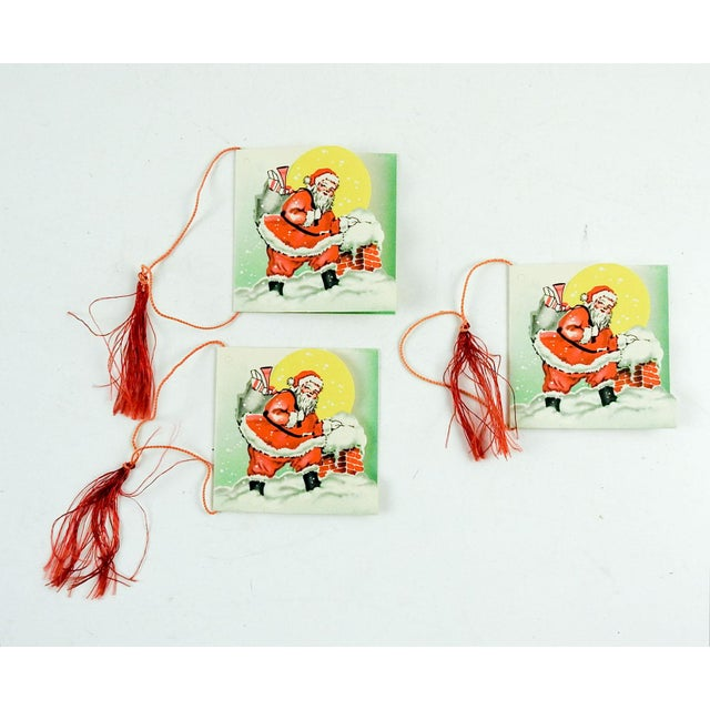 1950s Vintage Santa Claus Bridge Tally Cards - Set of 3 For Sale - Image 5 of 5