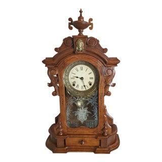 19th Century Ansonia Monarch Walnut Gingerbread Parlor Shelf Clock For Sale