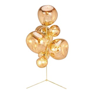 Tom Dixon Melt Stand Floor Lamp in Gold - Set of 8 For Sale