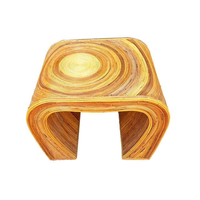 Vintage Gabriela Crespi Style Pencil Reed Side Table by Adrian Pearsall - Image 2 of 5