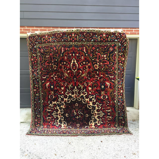 "Vintage Persian Rug 6'11"" X 7'11"" - Image 2 of 7"