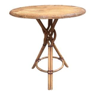 Vintage Rattan Bistro Table