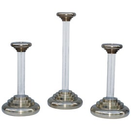 Image of Lucite Candle Holders