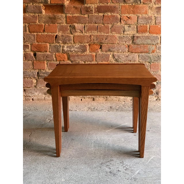 Midcentury Gordon Russell Nest of Tables Set of Three Oak, 1950s - Set of 3 For Sale - Image 12 of 13