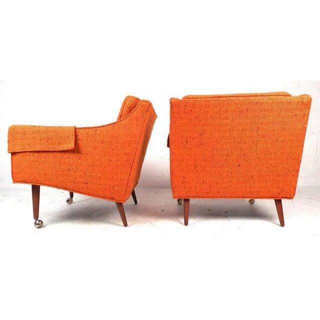 Milo Baughman Mid-Century Modern Milo Baughman Armchairs - Set of 4 For Sale - Image 4 of 8