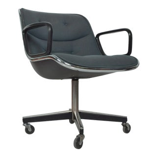 Charles Pollock Office Chair for Knoll With Upholstery Mid Century Modern For Sale