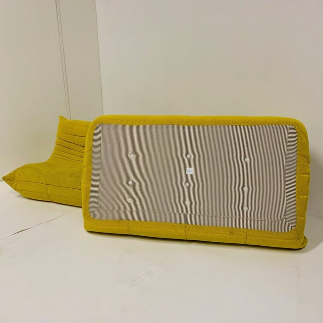 Yellow Michel Ducaroy for Ligne Roset Rare Yellow Toga Sofa / Large Settee 2 Available For Sale - Image 8 of 12